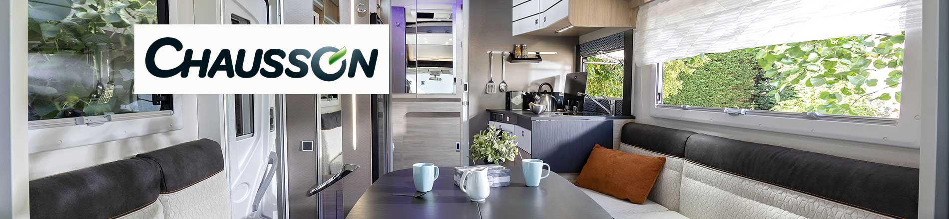 Interior view of a Chausson Motorhome